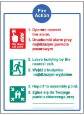 Fire Action Auto Dial without Lift (English / Polish)