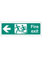 Inclusive Disabled Fire Exit Design - Arrow Left