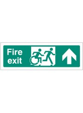 Inclusive Disabled Fire Exit Design - Arrow Up