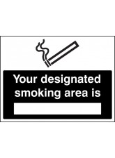 Your Designated Smoking Area Is (White / Black)