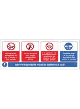 Vehicle Sticker - No smoking - Mobile phone - Drink / Drugs - Wear Seatbelt