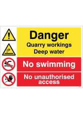 Danger Quarry Workings - Deep Water - No Swimming - Keep out
