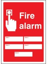 Fire Alarm 5 Zones - Adapt-a-Sign