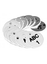 Engraved Valve Tags - White with Black Text