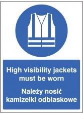 High Visibility Jackets Must be Worn (English / Polish)