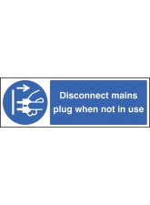 Disconnect Mains Plug When Not in Use