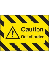 Door Screen Sign - Caution Out of Order