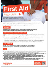 First Aid Emergency Resuscitation Poster - 420 x 594mm