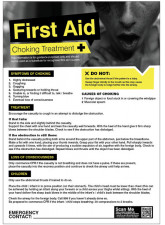 First Aid Choking Poster - 420 x 594mm