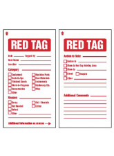 6S Red Tags c / w Cable ties (pack of 10)