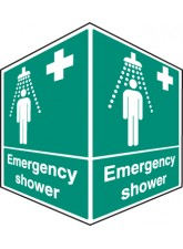 Emergency Shower - Projecting Sign