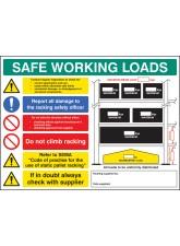 SWL Pallet Racking Sign - 5mm FoamEx- 600 x 450mm