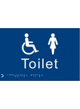 Braille - Toilet Ladies/Disabled