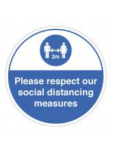 Respect Social Distancing Floor Graphic
