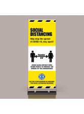 Coronavirus Roll Up Banner - Help stop the Spread