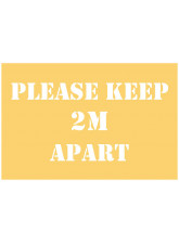 Please Keep 2m Apart Stencil