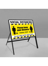 Social Distancing Road Frame Sign