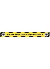Maintain a Safe Distance Floor Graphic - 1m / 2m / Generic Distance Options