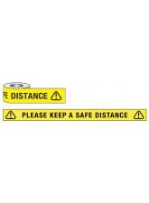 Keep a Safe Distance Floor Tape