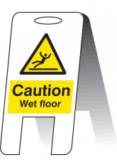 Caution Wet Floor - Self Standing Folding Sign