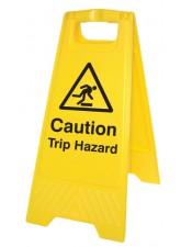 Caution Trip Hazard - Self Standing Folding Sign