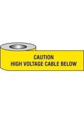 Caution High Voltage Cable Below Underground Tape
