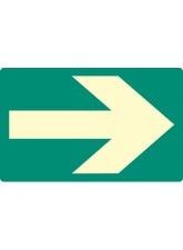 Way Finding - Photoluminescent Floor Marker - 175 x 110mm