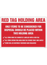 Red Tag Holding Area Items for Disposal
