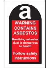 Roll of 100 Contains Asbestos Labels 27 x 50mm