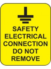 Safety Electrical Connection Do Not Remove Labels