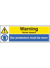 Warning Noise Hazard Ear Protection Must be Worn