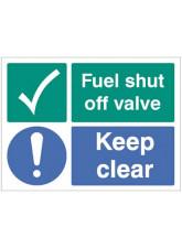 Fuel Shut Off Valve Keep Clear