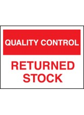 Quality Control Returned Stock