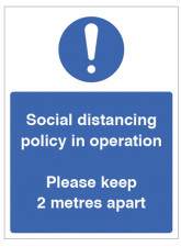 Social Distancing Policy in Operation