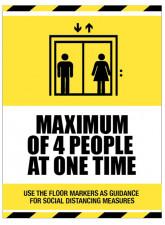 Social Distancing - Maximum of 4 People