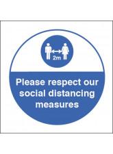 Respect Social Distancing Sticker