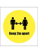 Keep 2m Apart Sticker