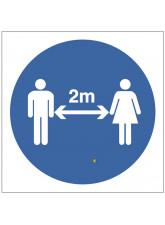 2 Metre Distancing Symbol