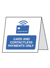 Card and Contactless Payments only - Double Sided Table Card
